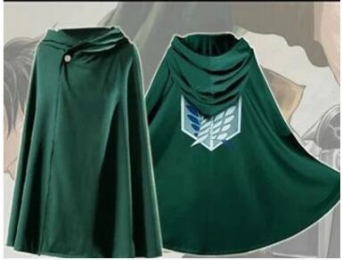 Free shipping Attack On Titan Shingeki No Kyojin Scouting Legion Top Cosplay Grade Cloak Cape for Eren Ackerman Armin Levi