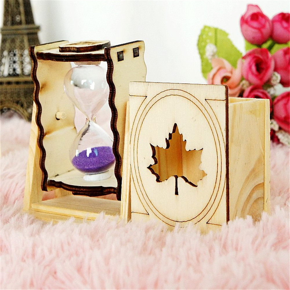 Novelty Hourglass Gift New Arrival Hot Sale Handmade Special Birthday Gifts Wood Small Hourglasses Desk Decor Bedroom Decors