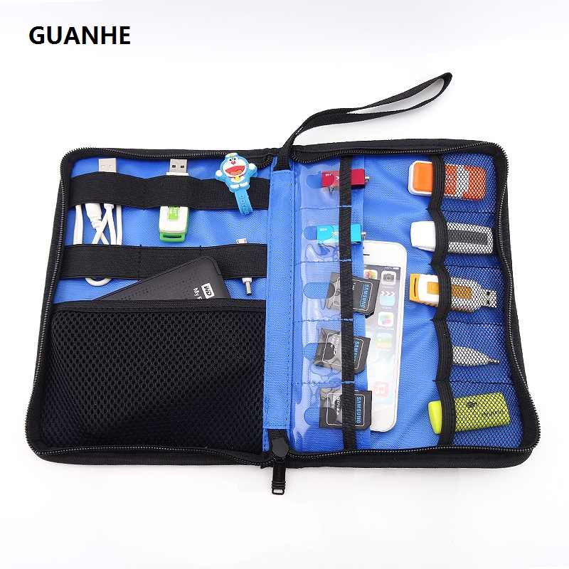 GUANHE Shockproof Carry Case Hard EVA Flash drive USB Pouch Bag Portable For WD External Hard Drive HDD