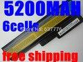 5200mah battery for lenovo G550 G430 G450 G530 N500 G430 Z360 L06L6Y02 L08L6C02 L08O6C02 L08S6C02 L08S6Y02 51J0226 57Y6266