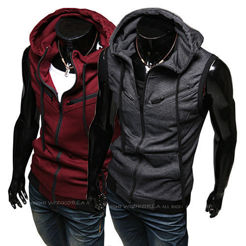 Men Fashion Active Clothes Autumn Winter  Vests Sleeveless Cardigan zipper-front Jacket Plus Size Hot Sale Free Shipping