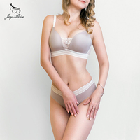High End Brand 2017 New Arrival Lace Bra Set Wire Free Underwear Set Women Panties Thin