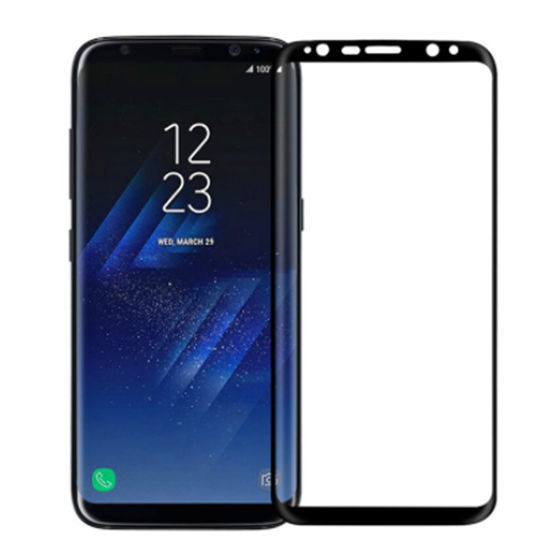 3D Curved Tempered Glass For Samsung Galaxy S8 S9 plus Note 8 S7 S6 Edge S 7 8 9 Case Protector Protective Film Cover