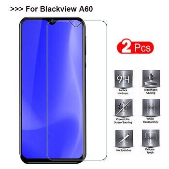 Перейти на Алиэкспресс и купить 2 шт., закаленное стекло Blackview A60, 9 H, высокое качество, Защитная пленка для экрана, Защитное стекло для Blackview A60, 6,1 дюйма