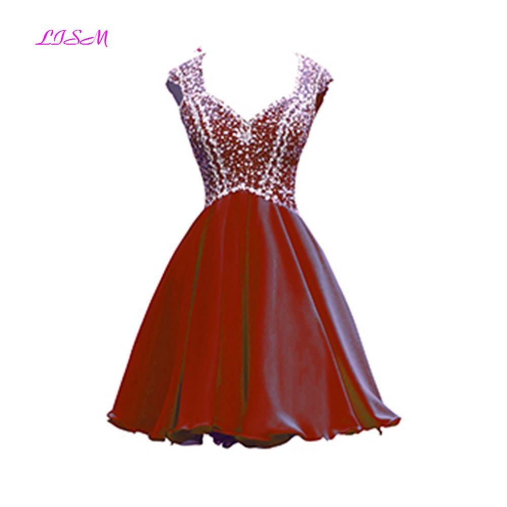 Sweetheart Crystals vestido formatura festa Short Chiffon Prom Dress 2019 Sexy Open Back Special Occasion Dresses vestido curto