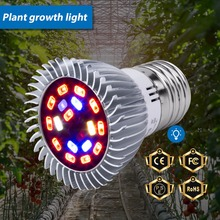 Full Spectrum Led E27 Phyto Lamp 220V Grow Light 18W 28W Led Plant Growing Lamp E14 Fitolampy Bulb For Seeds Flower Grow Tent цена и фото