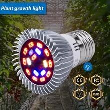 Full Spectrum Led E27 Phyto Lamp 220V Grow Light 18W 28W Led Plant Growing Lamp E14 Fitolampy Bulb For Seeds Flower Grow Tent недорого