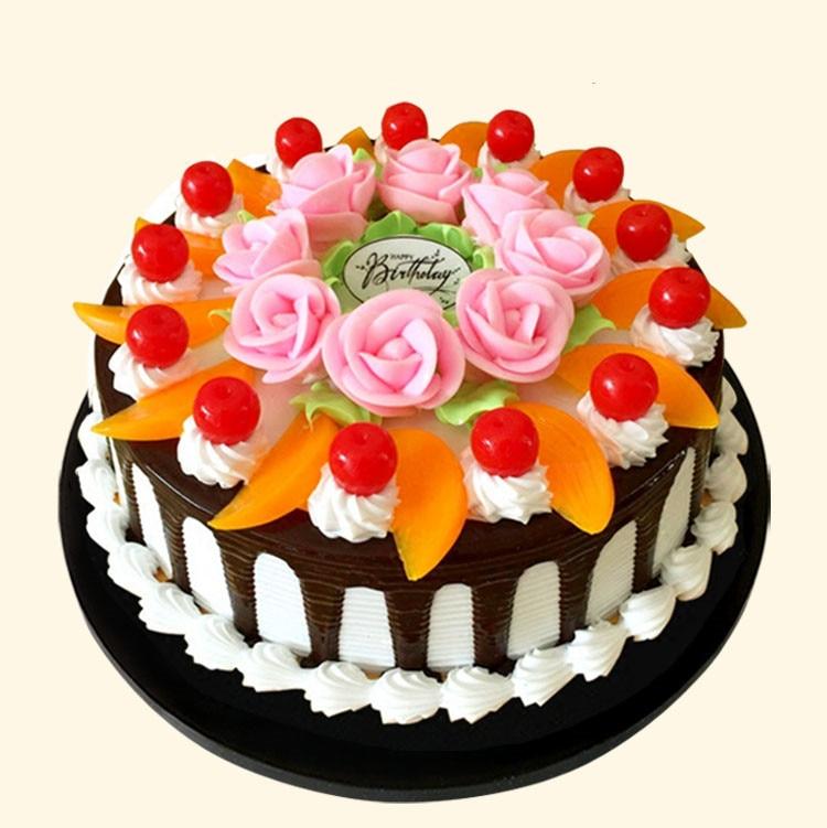 15cm Diameter Simulation Cake Fruit Cream Birthday Model European Flowers Decoration