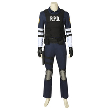 Game RE2 Resident Remake Biohazard Leon Scott Kennedy Costume Cosplay Vest Prop Halloween Christmas Adult Men Outfit Custom Made biohazard 4 resident evil vgm02 leon s kennedy r p d ver 1 6 12 toys