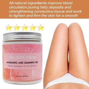 Image 3 - Body Slimming Cream Anti Cellulite Cream Fat Burner Creams+Handheld Bath Shower Full Body Massage Brush
