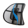 Car Seat Chair Massage Back Lumbar Support Mesh Ventilate Cushion Pad Black Free Shipping