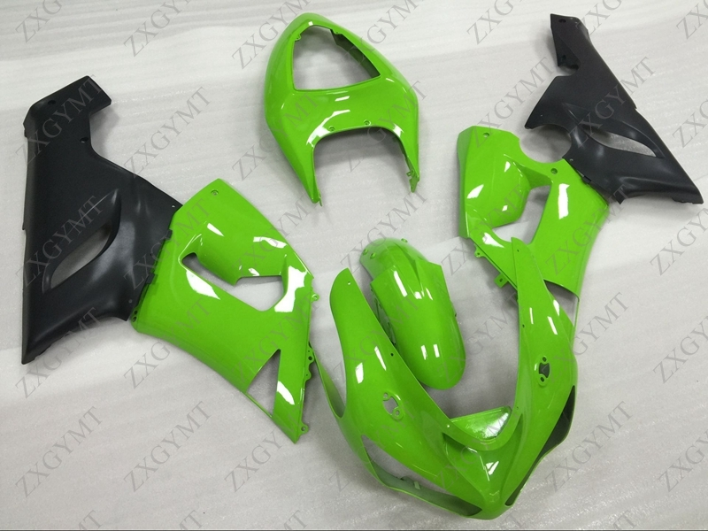 Motorcycle Fairing 636 ZX-6r 2005 - 2006 Green Black Plastic Fairings 636 ZX-6r 2005 Body Kits ZX6r 636 05Motorcycle Fairing 636 ZX-6r 2005 - 2006 Green Black Plastic Fairings 636 ZX-6r 2005 Body Kits ZX6r 636 05
