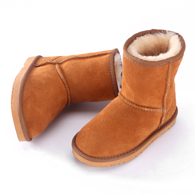 2019 child Boys girls boots UG Australia boots winter children boots for kids child Keep warm leather fur Snow boots children