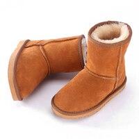 2019 child Boys girls boots UG Australia boots winter children boots for kids child Keep warm leather fur Snow boots children