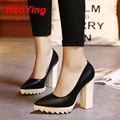 white black heels platform pumps 2016 chucky womens high heels shoes for women punk women shoes pumps pointed toe shoes D367