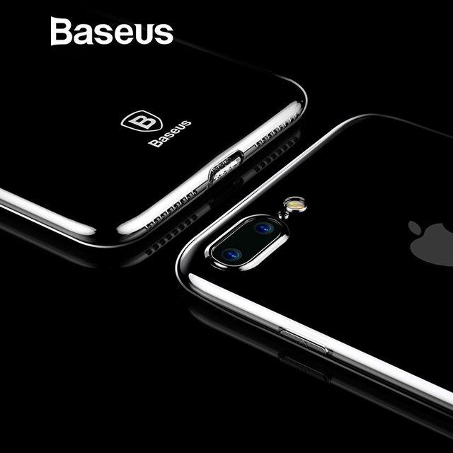 Baseus Ultra Thin Case For iPhone 7 Fashion Soft Silicone Case For iPhone 7 7 Plus Cover Protective Shell Clear Back Phone Cases