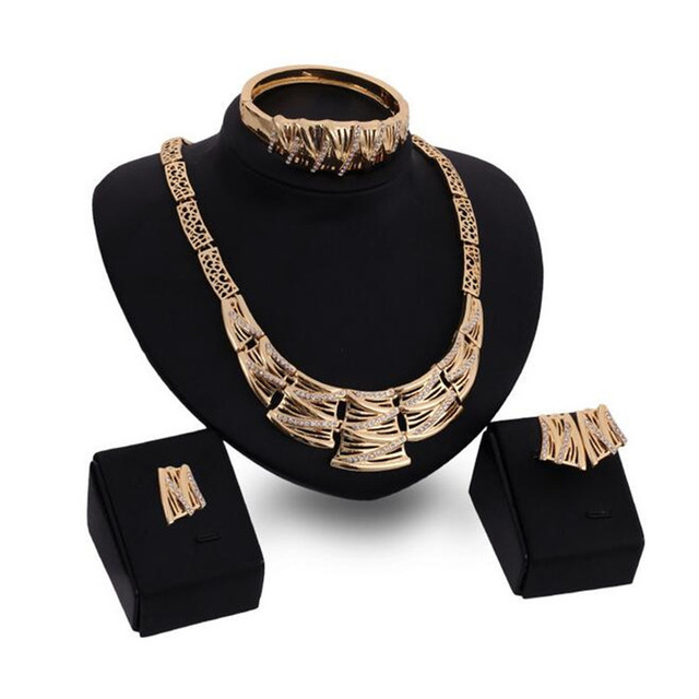 Top Quality Elegant luxury design Rose Gold plated colorful Austrian crystal drop jewelry sets women gift S0297