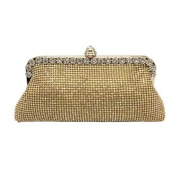 Diamonds Women Evening Bags 2017 Fashion Clutch Brand Designer Crystal Women Handbags Color Luxury Wedding Party Women Chain Bag Evening Bags