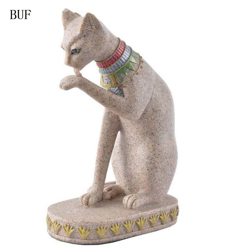 Lot of 3  Cat Standing Figurines Statue Home Decor Abstract Crafts Resin Gift