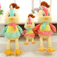 50CM 80CM 100CM Kawaii Colourful Chicken Funny Plush Toy Home Decoration Chicken Doll Baby Birtherday Gifts