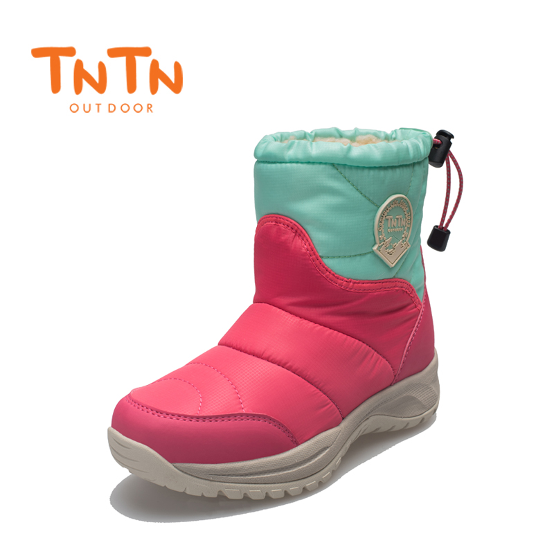 TNTN 2017 outdoor winter wool warm short tube plus cashmere waterproof slippers female leisure cotton shoes ski boots