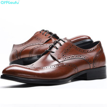 Fashion Italian Mens Shoes Genuine Leather Luxury Carved Formal Brogue Shoes Oxford Male Shoes Business Dress Shoes mycolen genuine leather brogue business formal dress men shoes classic office wedding mens shoes casual oxford italian