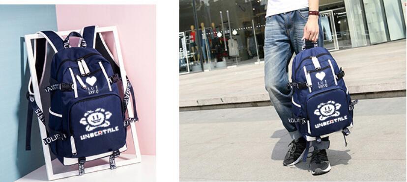 Novo undertale mochila cosplay anime oxford mochila sacos de viagem