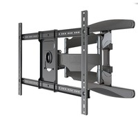 TV Wall Mount NB P6 40 70 Flat Panel LED LCD TV Wall Mount Full Motion 6 Swing Arms Monitor Holder Frame