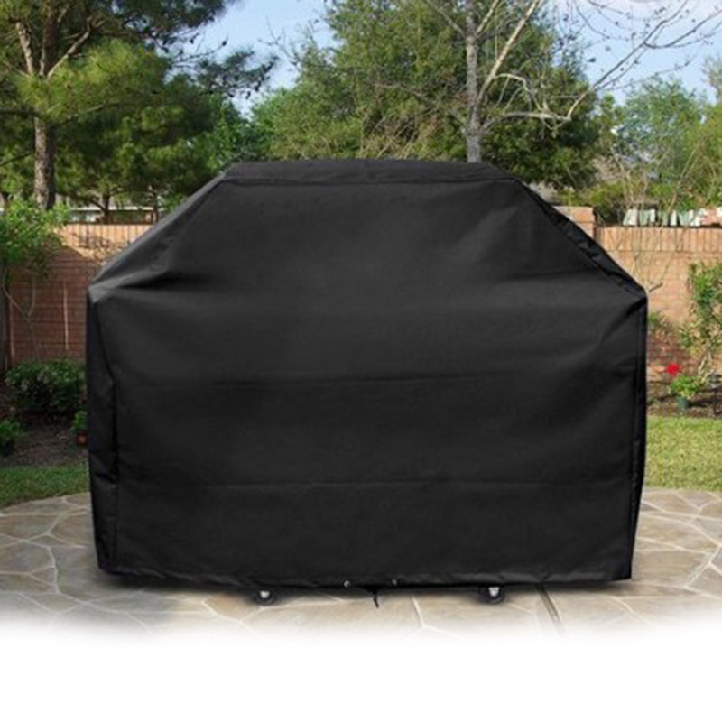 Black Waterproof BBQ Cover Outdoor Rain Barbecue Grill Protector Dustproof Rainproof Barbecue Microwave Oven Protector