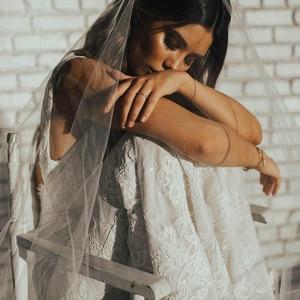 Image 2 - LORIE Lace Mermaid Wedding Dress Sexy V Neck Bride Dress Open Back Robe de soiree Elegant Boho Wedding Gowns 2019