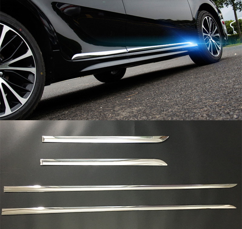 Detail Feedback Questions About Accessories New 4pcs Abs Chrome Door Body Side Trim Cover Molding For Toyota Camry Xv70 2017 2018 Car Styling On