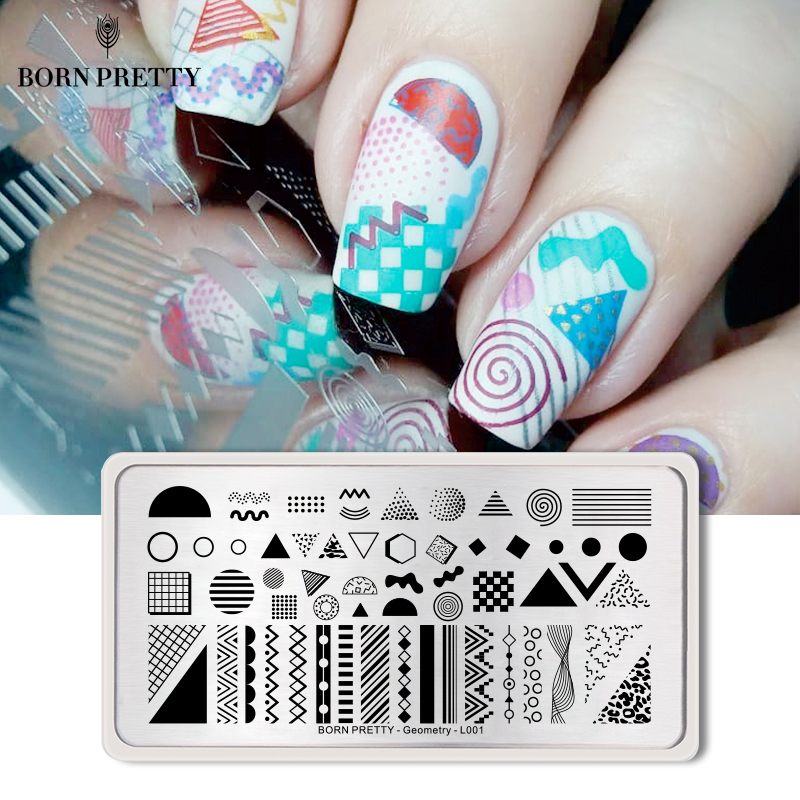 Geometric Reverse Stamping Nail Art Born Pretty Review: Aliexpress.com : Buy BORN PRETTY Geometry Nail Stamping