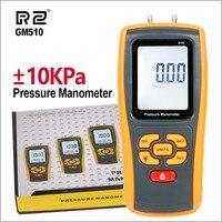 RZ Handheld Digital Pressure Gauge Manometer +/ 10kPa Pressure Differential Tester USB Manometer Pressure Manometer GM510 GM511