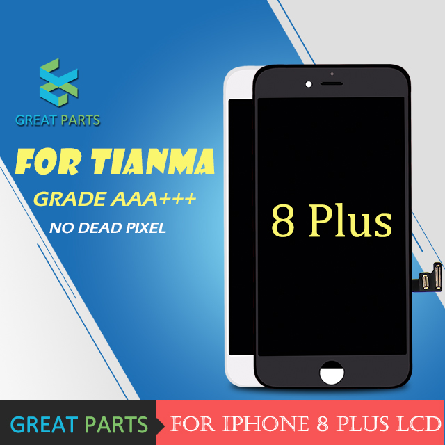 GREAT PARTS 5PCS For Tianma AAA LCD 5 5 inch For iPhone 8 Plus LCD Display