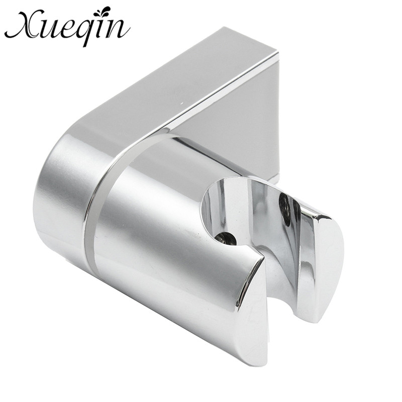 Xueqin Adjustable Shower Head Holder Bracket Wall Mounted Bathroom Chrome ABS Showerhead Base Holder With Fixed Screws