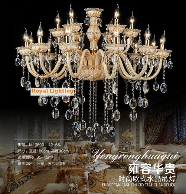 New York Post Modern Crystal Chandelier Lamp 18 Candle Holders Pendant Lighting Living Room Dining