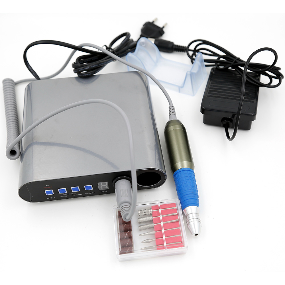 Nail Tools Nail Salon Pedicure Electric Nail Drill Machine Kit  Manicure &Pedicure Set ZS-280-2.5W pro powerful 25000rpm electric nail drill pedicure manicure machine set with pedal