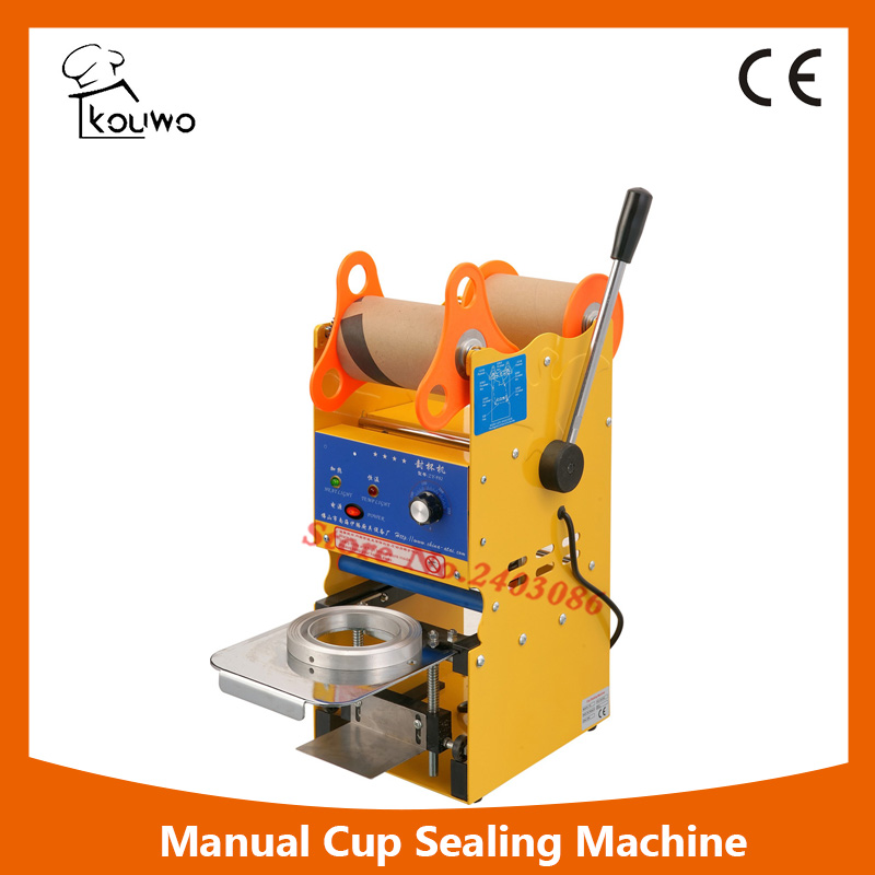 KW-F02 ce approved manual fruit juice food plastic cup sealer sealing packing machine for beverage kw f01s commercial use digital manual fruit juice food plastic cup sealing packing machine for beverage