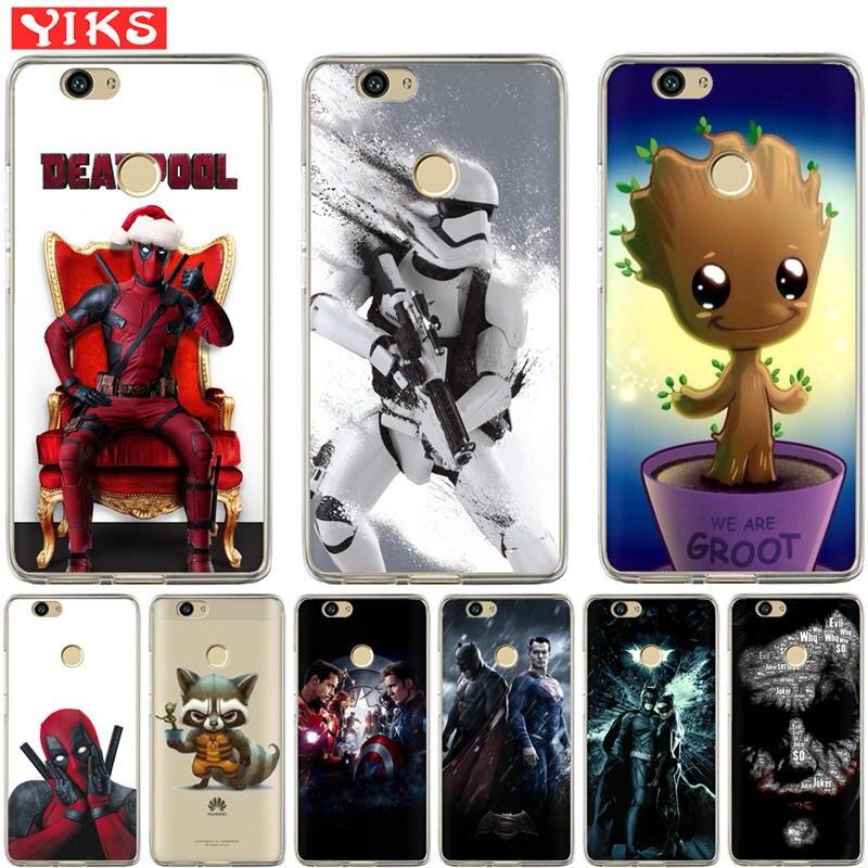Deadpool Joker Case For Huawei Nova 2 plus Nova 3E Cover For Huawei Y3 Y5 Y6 II  2 Y3 Y7 2017Y6 Pro