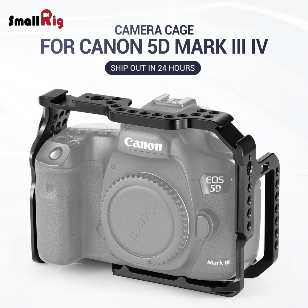 SmallRig 5D Mark IV Cage Camera Cell for Canon 5D Mark III IV cage With Nato Rail Cold Shoe Mount for DIY Option 2271-in Camera Cage from Consumer Electronics    1
