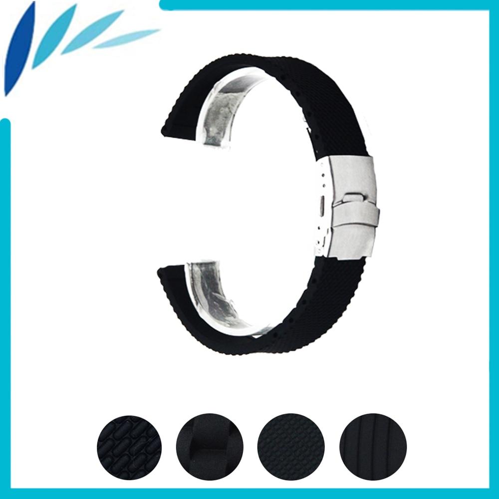Silicone Rubber Watch Band 20mm 22mm for Pebble Time / Round / Steel / Bradley Timepiece Strap Wrist Loop Belt Bracelet Black elastic watch band 20mm 22mm for pebble 1 1st gen pebble time round 20mm pebble time stainless steel strap link belt bracelet