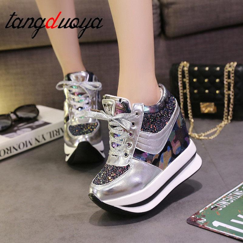 Women Shoes Women Sneakers Wedges Shoes Fashion Women Casual Shoes 2019 Female Height Increasing Woman Platform Shoes Sneakers
