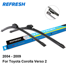 "Refresh Wiper Blades for Toyota Corolla Verso 2 26""&16"" Fit Hook Arms 2004 2005 2006 2007 2008 2009"