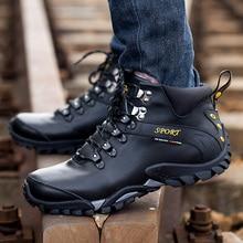 Популярный бренд Новые Утепленная одежда Мужские зимние сапоги Высокое качество Пояса из натуральной кожи износостойкими повседневная обувь модные рабочие Мужские ботинки