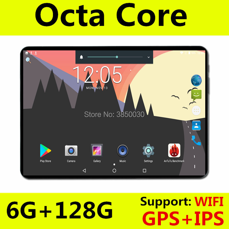 Free Shipping 10 Inch Tablet PC Octa Core 6GB RAM 64GB ROM Android 9.0 WiFi Bluetooth Dual SIM Cards 3G 4G LTE Tablets 10.1