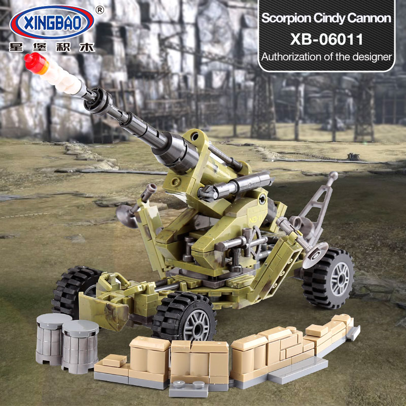 XINGBAO 06011 Genuine Military Series legoing The Scorpion Cindy Cannon Set Funny Educational Building Blocks Bricks Toys Gift cindy