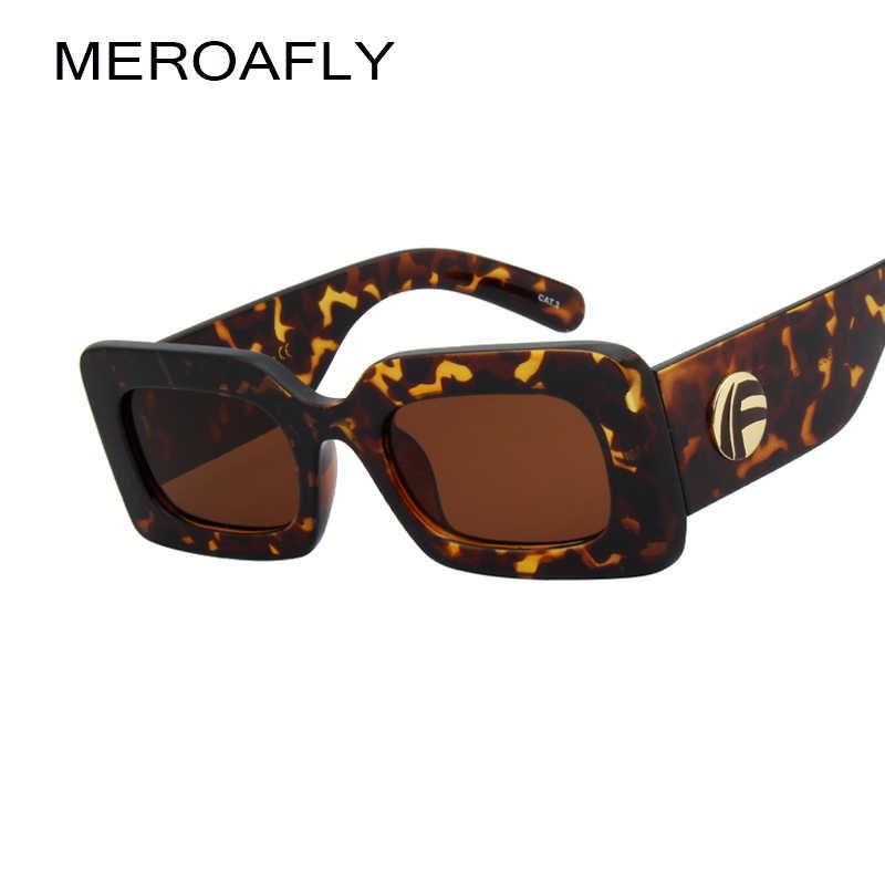 e0a477dbef9c ... MEROAFLY Vintage Rectangle Sunglasses Women Brand Designer Fashion Small  Square Sun Glasses For Female Retro Black ...