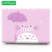 LoliHippo Totoro Notebook Cover Protective Case for Apple Macbook Air Pro 11.6 12 13.3 15.4 Inch Retina New Cartoon Laptop Case