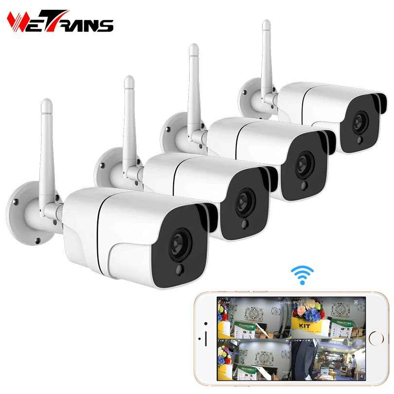 Wetrans Wireless Security Camera System 1080P IP Camera Wifi SD Card Outdoor 4CH Audio CCTV System Video Surveillance Kit Camara