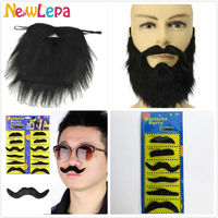 Hot Sale Four Styles Costume Party Halloween Funny Fake Mustache Beard Whisker Facial Hair Fancy Dress